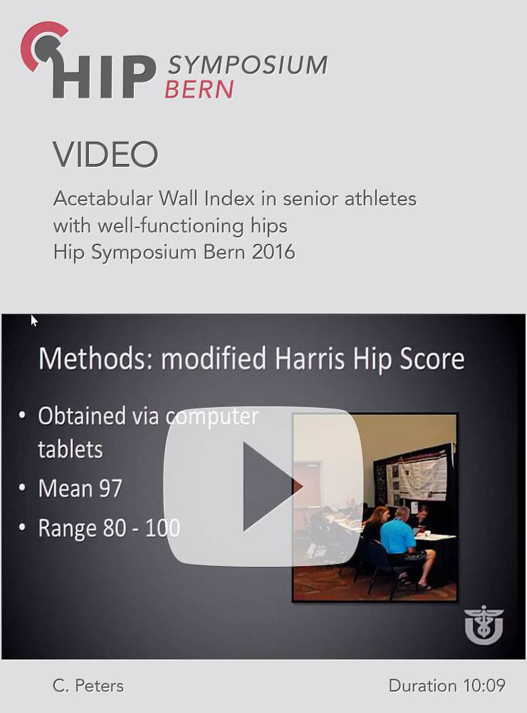 C. Peters - Acetabular Wall Index in senior athletes with well-functioning hips - Hip Symposium 2016