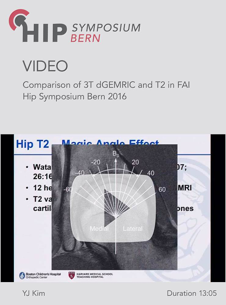 YJ Kim - Comparison of 3T dGEMRIC and T2 in FAI - Hip Symposium 2016