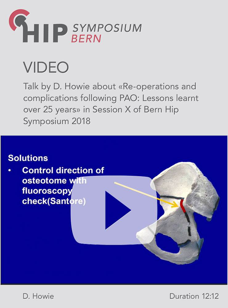 D. Howie - Re-operations and complications following PAO: learnt over 25 years - Hip Symposium 2018