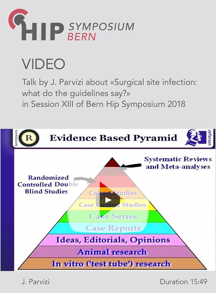 J. Parvizi - Surgical site infection: what do the guidelines say? - Hip Symposium 2018