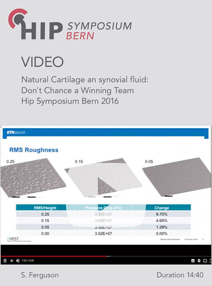 S. Ferguson - Natural Cartilage an synovial fluid: Don't Chance a Winning Team - Hip Symposium 2016