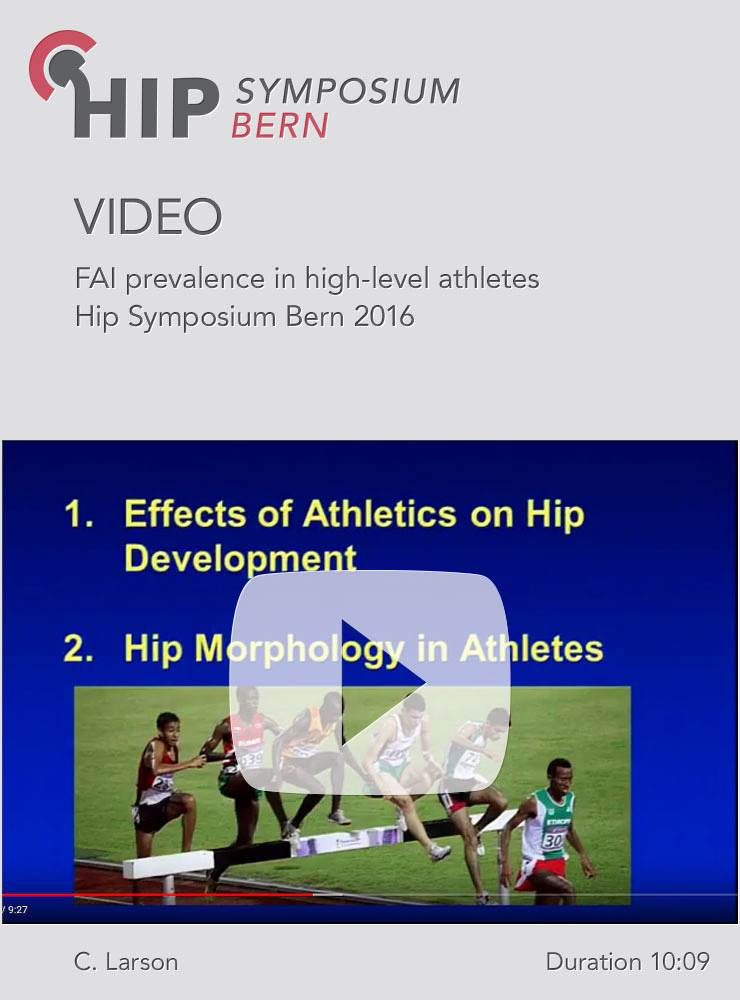 C. Larson - FAI prevalence in high-level athletes - Hip Symposium 2016