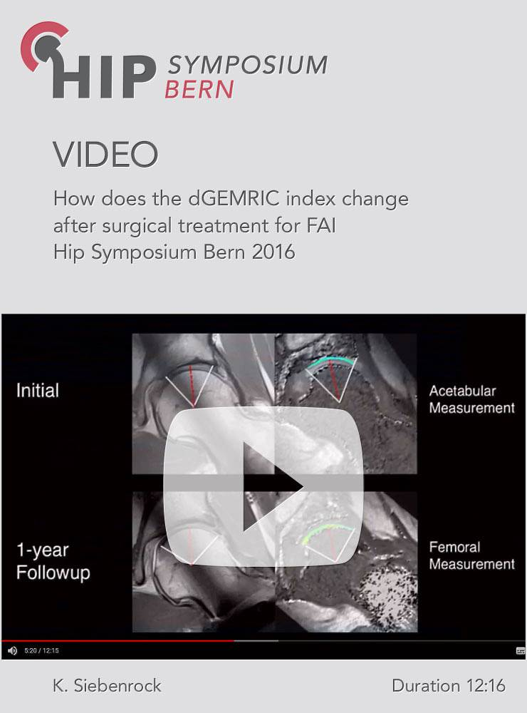 K. Siebenrock - How does the dGEMRIC index change after surgical treatment for FAI - Hip Symposium 2