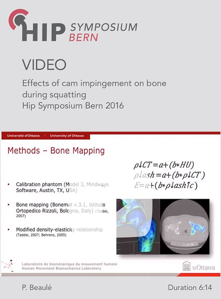 P. Beaulé - Effects of cam impingement on bone during squatting - Hip Symposium 2016