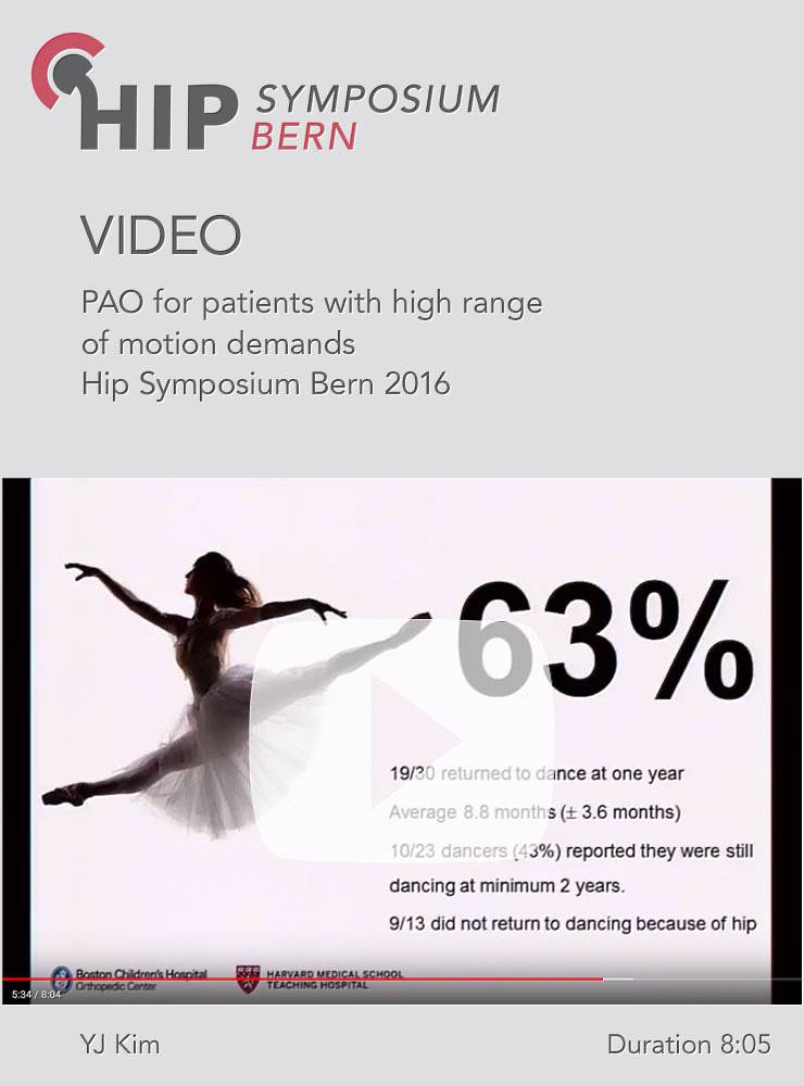 YJ Kim - PAO for patients with high range of motion demands - Hip Symposium 2016