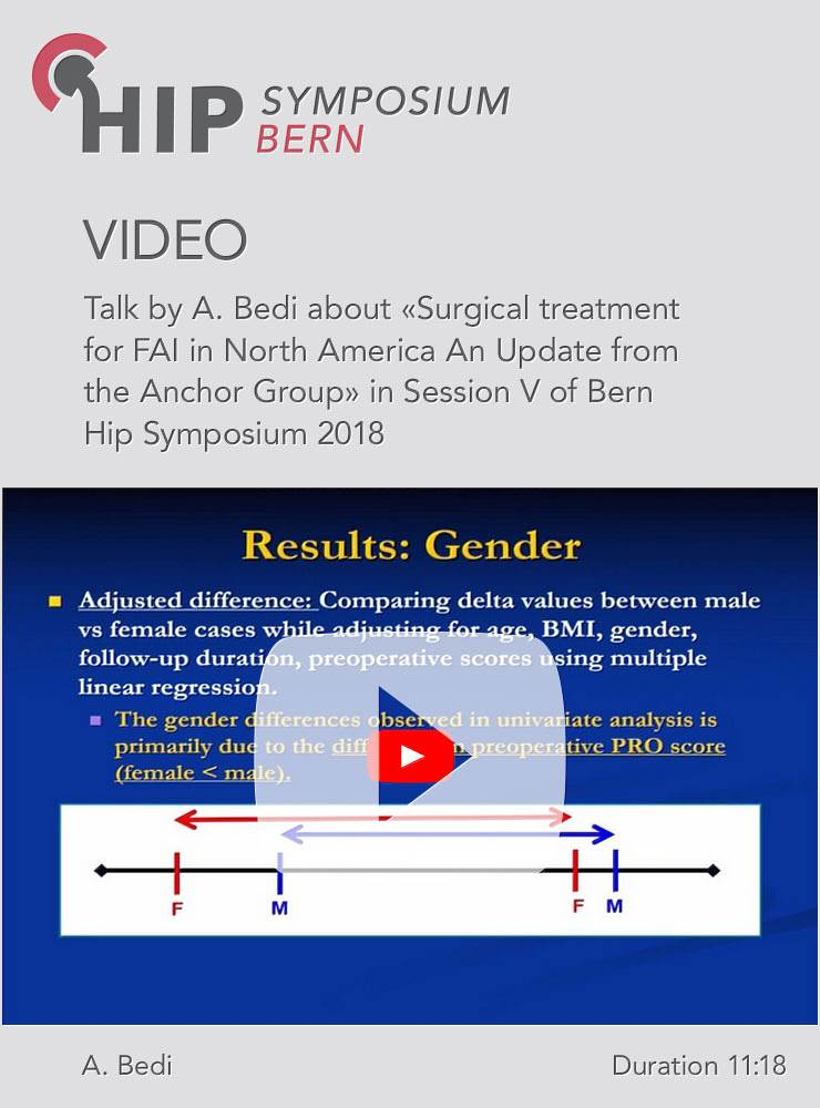 A. Bedi - Surgical treatment for FAI in North America an Update - Hip Symposium 2018